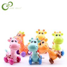 Funny Colorful clockwork toy Baby Kid giraffe design Running Clockwork Spring Toy newborn baby wind up toy GYH(China)