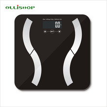 ALLiSHOP Weight Measuring, BMI, body fat, body water and muscle and bone mass bathroom scales smart digital electronic scales