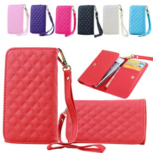 Leather Wallet Phone Bag Case Card Holder Handbag For iPhone 5S SE 4S 6S For Huawei P6/G6 For Sony Z3 mini For Samsung S3 A3