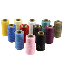 260M 1MM Waxed Leather Thread Wax Cotton Cord String Strap Necklace Rope Bead For shamballa Bracelet