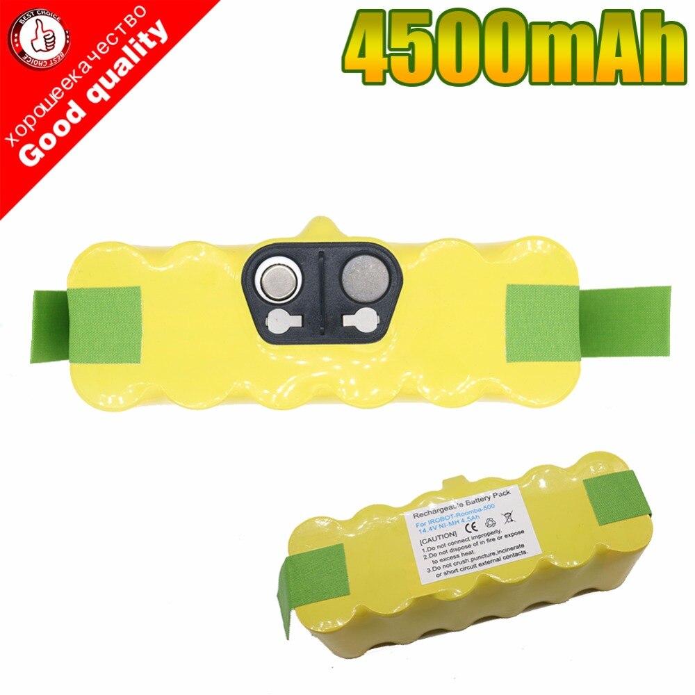 14.4V 4500mAh Ni-MH Vacuum Battery for iRobot Roomba 500 530 531 532 650 535 536 540 545 550 552 560 562 570 580 610 700 760 770<br>