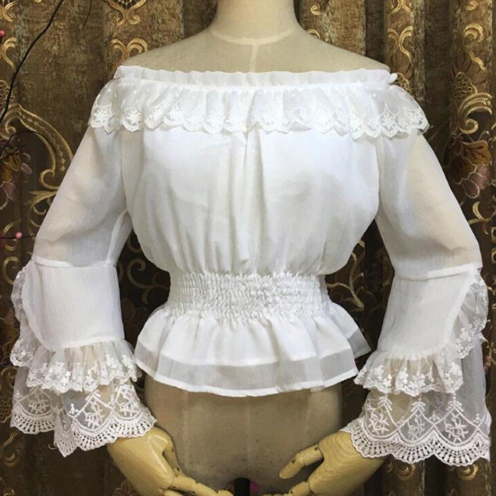 Womens Tops Shirts Costume Plus Size Rennaissance Tops Shirts Waistbelt
