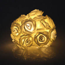 New 2M Rose Flower Battery Operated Lights 20 LED Fairy String Wedding Party decor(China)