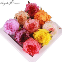 Artificial decorative peony flowe heads simulation DIY silk flower for wedding home party decoration hotel high quality 5pcs DIY(China)