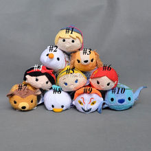 Free Shipping 1PCS Genuine Olaf Kristoff Snow White Stitch Mermaid Donald Duck Tsum Tsum Plush Toys Cleaner Kids Gifts 3""