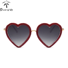 DRESSUUP Heart Flash Sunglasses Women Brand Designer Coating Lovers Cute Sun Glasses UV400 Shades Oculos De Sol Feminino