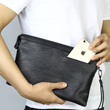 Big Purse Folder Wallet Men Clutch Bag Faux Leather Male Wallets Ipad Cell Phone Credit Card Holder Portfolio Documents Wristlet