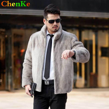 ChenKe Mens Winter Leather Jacket Zipper Cardigan Men Mink Coat Brand Youth Men Faux Fur Coats Motocycle Factory Direct Clothing