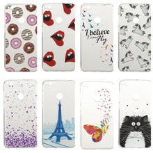P8Lite 2017 Cute Donuts Sexy lips Butterfly Pure Cover Case For Huawei P8 Lite 2017 Ultra Silicone Woman Mobile Phone Gel Cases