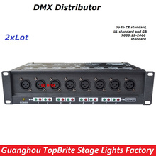 2XLot Free Shipping High Quality 8 Channel DMX Splitter DMX512 Light Stage Light Signal Amplifier Splitter 8 Way DMX Distributor(China)