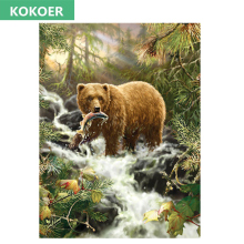 Full,Diamond Embroidery, Animal Brown bear Scenery Decorative ,Diamond Painting,Cross Stitch,Diamond Mosaic,Needlework,Christmas