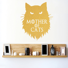 Game of Thrones Mother of Cats Khaleesi Wall Sticker home decor Decals DIY Cartoon Car stickers or Laptop Decal Animal Pattern(China)
