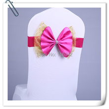 100pcs Chair Decoration (No need to Tie the Knot) Wedding Chair Cover Sashes For Party Banquet Decoration Bow FREE SHIPPING(China)
