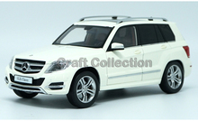 * White 1:18 Car Model Benz GLK 300 SUV Diecast Model Car Luxury Gifts Miniature G-class Modell Auto G-klasse