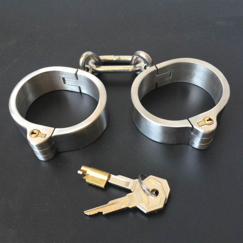 Special Offer Rushed Stainless Steel Restraint Handcuffs BDSM Sex Toys Sextoys Adults For Women Bondage Restraints Hand Cuffs<br>