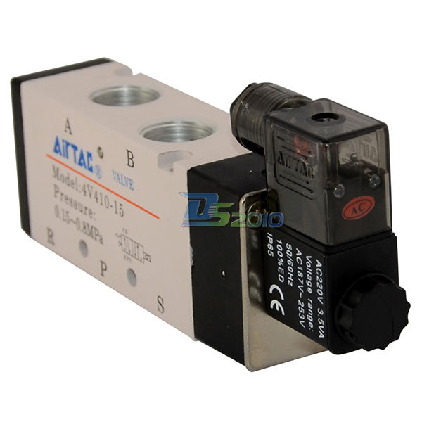 Good Quality 1/2 AC 220V 5 way 2 position Pneumatic Electric Solenoid Valve NPT Air Aluminum<br><br>Aliexpress