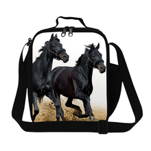 Insulated Animal Cooler Lunch Bags For Kids Horse Print Insulation Thermal Lunch Box Picnic Food Container Mini Mother Baby Bag