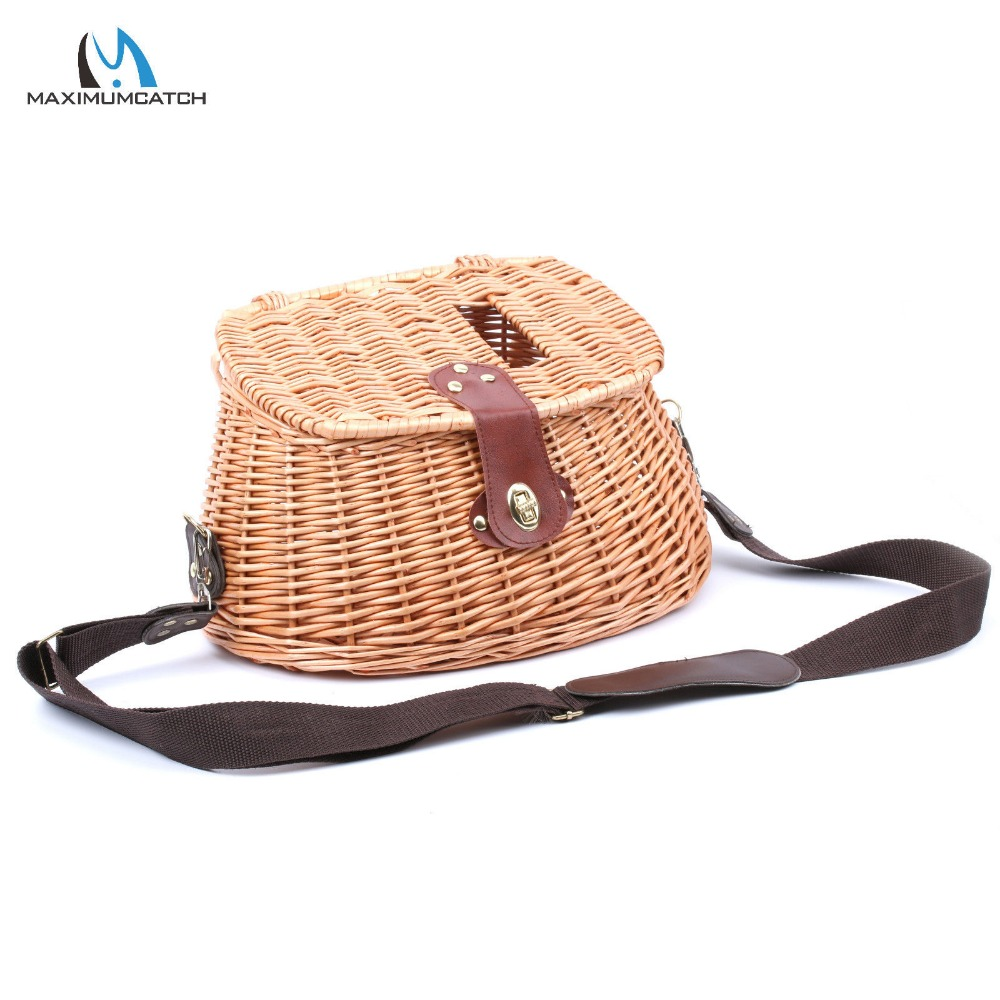 Maximumcatch Chinese-Style Classical Wicker Trout Fishing Creel Vintage Fishing Tackle Box Willow Fishing Basket<br><br>Aliexpress