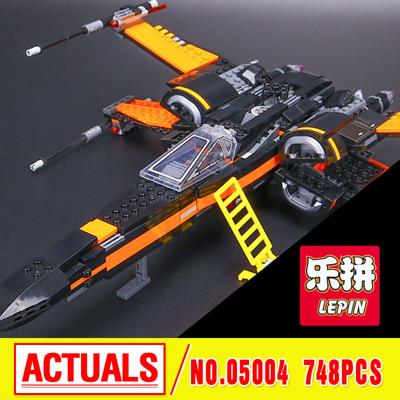 2016 LEPIN 05004 Star First Order Poes X-Fighter wing  Assembled Toy Building Block Compatible With gift 75102 Lovely Toys wars<br>