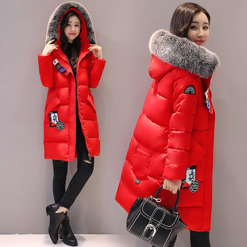 2017 Time-limited Hot Sale Full Ukraine Winter Clothes Jacket Cotton Women Windbreaker Long Coat Students Large Size Hood Thick Îäåæäà è àêñåññóàðû<br><br>