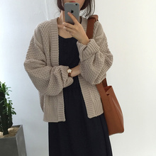 The real price ~ chic twist warm sweater cardigan sweater coat jacket female tide restoring ancient ways