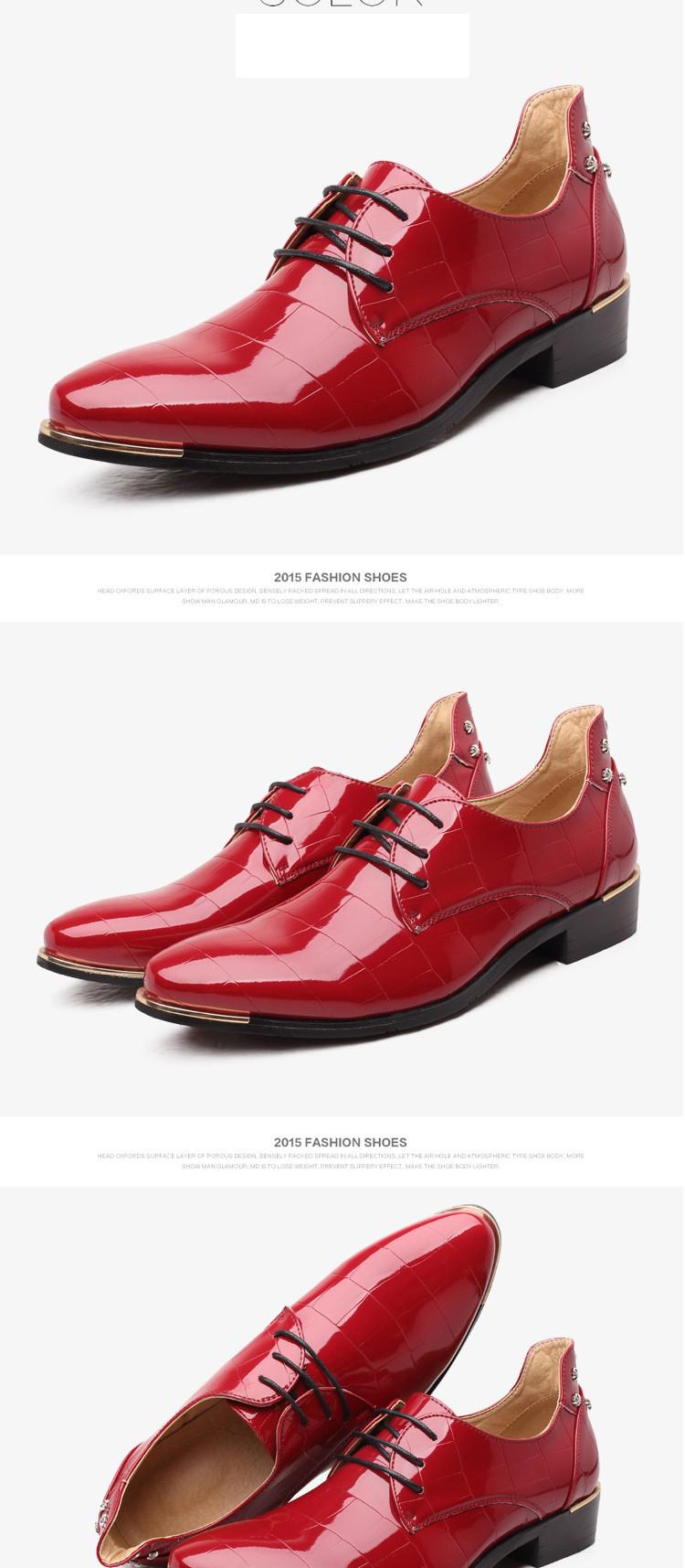 Men shoes 16 new fashion PU leather casual men shoes 10