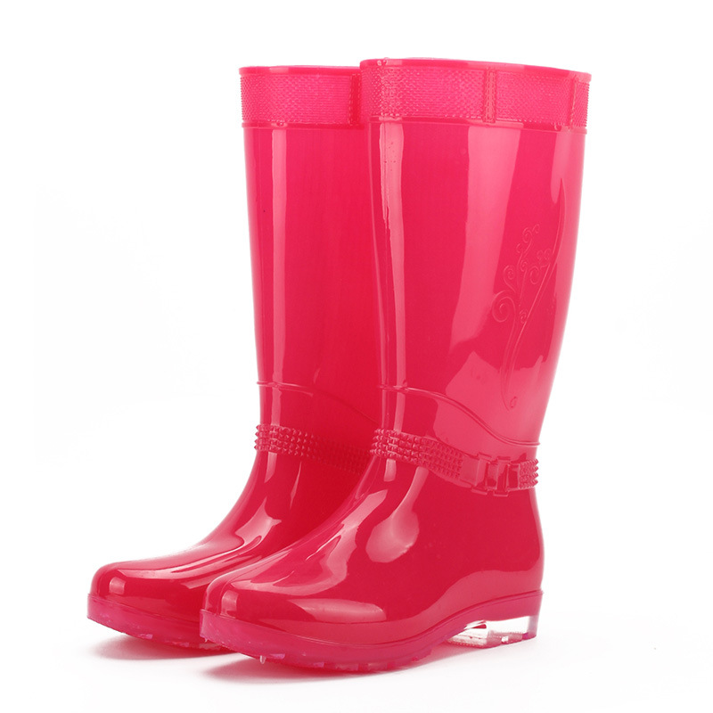 2017 NEW Spring Summer Woman Rain Boots Shoes Flat Heels Round Toe Waterproof Knee High Rainboots Candy Color Women Shoes Boots<br><br>Aliexpress