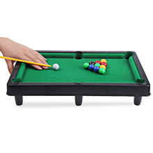Mini Billiard Ball Snooker Pool Table Flocking Desktop Simulation Billiards Family Game Children's Play Sports Balls Sports Toys(China)