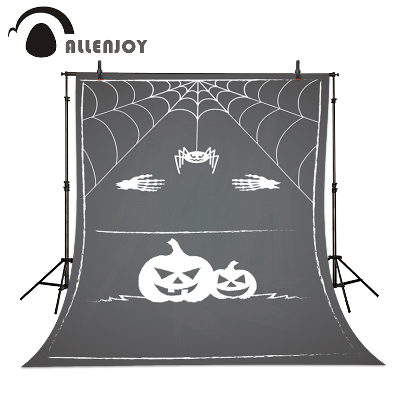 Allenjoy Photographic backdrop Black Spider Pumpkin Hand Halloween Baby Lovely Cartoon Photocall backgrounds for photo studio<br><br>Aliexpress