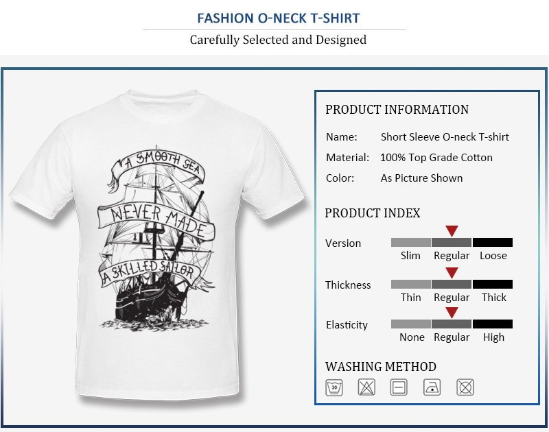 SMOOTH SAILING BOAT SHIP OCEAN SEA SAILOR VINTAGE Mens White V-Neck T-Shirt