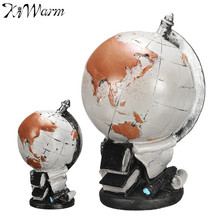 Ancient Vintage American Style World Globe Ornaments Globe Map of Earth Geography Study Tool Cafe Bookcase Desktop Decoration