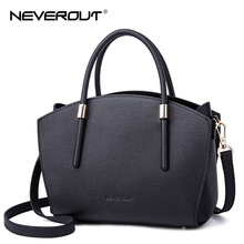 NeverOut 3 Color Brand Name Bag Women Genuine Leather Handbags High Quality Ladies Tote Solid Casual Totes Luxury Crossbody Bags
