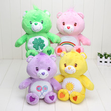 4pcs/lot 30cm Japanese care bears Soft Plush doll toy Stuffed Animal funshine share cheer good luck bear doll birthday gift(China)