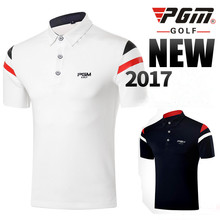 2017 PGM new golf Polo shirts male short-sleeve Breathable Quick Dry Golf T-shirt High Quality summer men's Golf sportwear