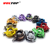 VOLTOP Turbo Keychain Turbine Key Ring Blade Rotatable Flashlight Spinner Bearing Supercharger Gyro Toys Car Pendant Ornaments