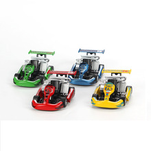 (1pcs) Estartek 1:18 Alloy Car Model Pull Back Go-kart Race Car Truck Four Color for Fans Children Holiday Birthday Gift