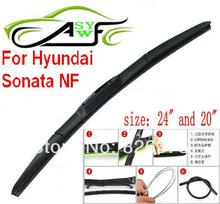 "Free shipping car wiper blade for Hyundai Sonata NF Size 20"" 24"" Soft Rubber WindShield Wiper Blade 2pcs/pair"