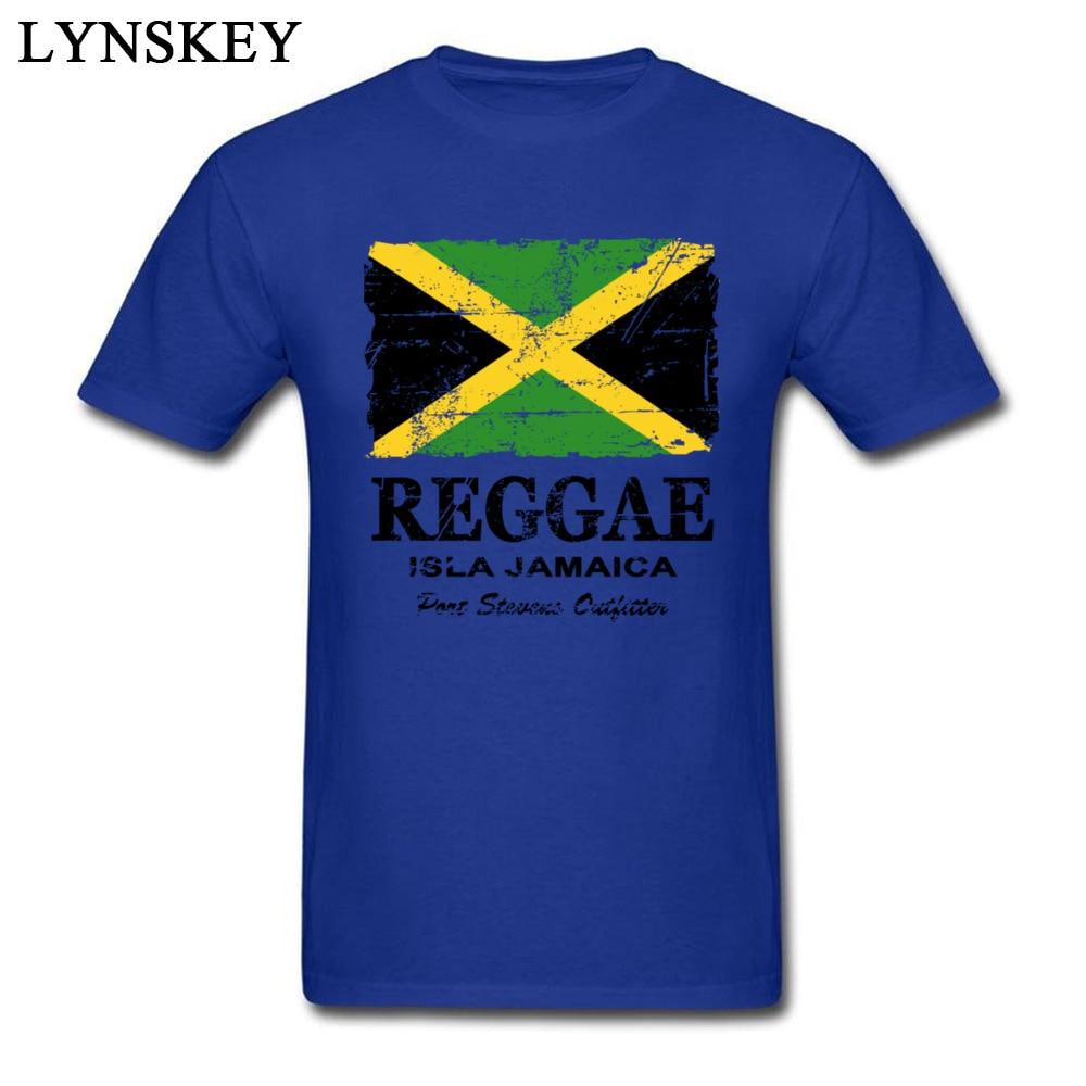 T-Shirt Normal Short Sleeve Funny Crew Neck 100% Cotton Tops T Shirt Group Summer Fall Reggae Jamaica Flag Tee Shirt for Boys Reggae Jamaica Flag blue