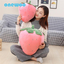 Cartoon Cute Soft Strawberry Plush Hand Warm Doll Toy Creative Sweet Stuffed Fruit Strawberry Pillow Toy Children Birthday Gift(China)