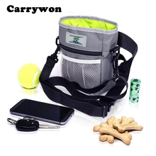 Carrywon Pet Dog Outdoor Bag Easily Carries Dogs Treat Training Pouch Pets Toys Kibble Treats Built-In Poop Bag Dispenser(China)