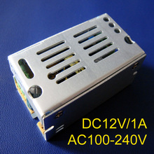 High quality 12V 1A 12W LED Switching Power Supply AC85-265V input power suply 12V 1A Output CE ROSH free shipping 10pcs/lot(China)