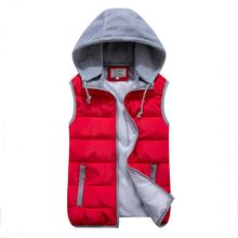 Women's autumn and winter detachable hood vest new Slim hooded cotton vest fashion glossy female models down vest waistcoat vest