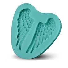 Beautiful angel wing sharp 3D Silicone cake fondant Mould tools Cookware Cake Decorating fondant mold D101(China)