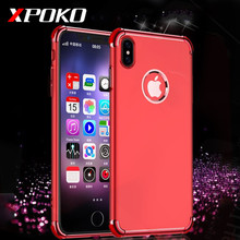 For iPhone X 7 6 6s Plus Luxury Anti-knock Electroplating TPU Cases Silicone Phone Cover For iPhone 10 X 6 6s 7 Plus Case Capa(China)