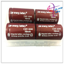 Liter energy battery RCR 123 16340 780mAh 3.7V Li-ion Rechargeable Battery Lithium Batteries with Retail Package(China)