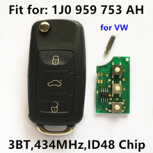 Remote Key for VW Volkswagen Passat Bora Golf Polo Beetle Car Key Vehicle Remote 1J0959753AH 1J0 959 753 AH
