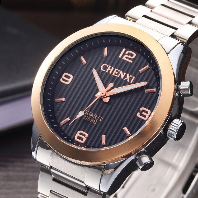 Luxury CHENXI Rose Gold Silver Steel Japan Movt Waterproof Dress Quartz Wristwatches Wrist Watch for Men 059B<br><br>Aliexpress