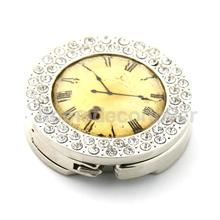 Retro Clock Purse Hanger Foldable Bag Rhinestone Handbag Table Hook Holder