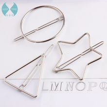 The circular pointed star triangle Korean DIY Bow Hair Barrette handmade card accessories homemade jewelry materials