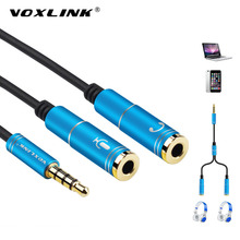 VOXLINK Audio Cable Jack 3.5mm Male to 2 Female Earphone Extension Cable 3.5mm Headphone Splitter Adapter for iphone Laptop